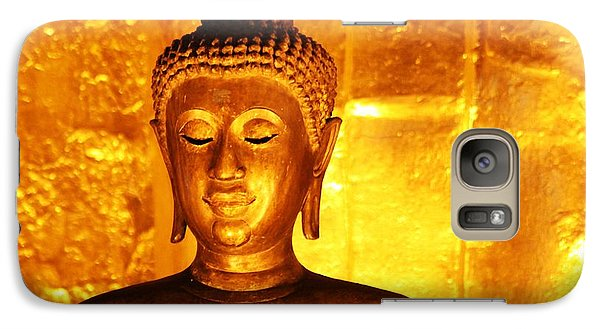 Galaxy Case featuring the photograph Gold On Gold by Nola Lee Kelsey
