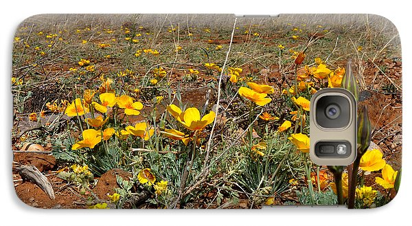 Galaxy Case featuring the photograph Gold Poppies Near The Chiricahua Mountains by Diane Lent
