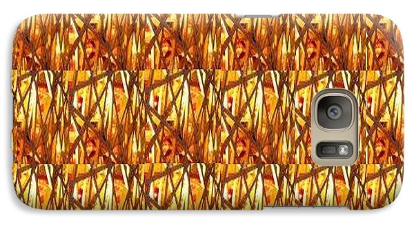 Galaxy Case featuring the photograph Gold Strand Sparkle Decorations by Navin Joshi