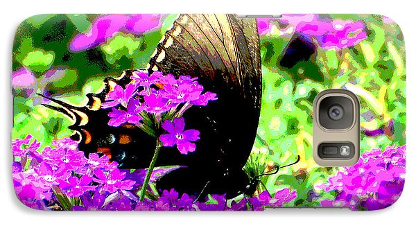 Galaxy Case featuring the photograph Gold Tips by Linda Cox