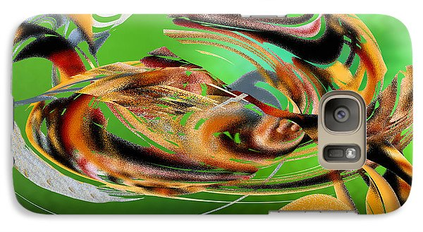 Galaxy Case featuring the digital art Gold Under The Sea by rd Erickson