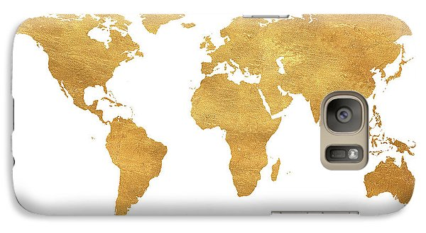 Gold World Map Galaxy Case by South Social Studio
