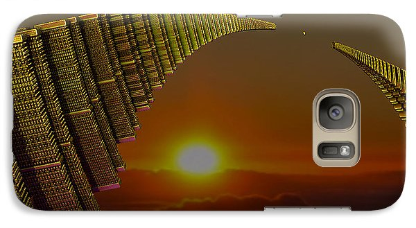 Galaxy Case featuring the digital art Golden Arches by Melissa Messick