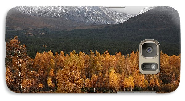 Galaxy Case featuring the photograph Golden Autumn - Cairngorm Mountains by Phil Banks