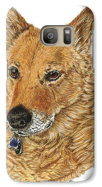 Galaxy Case featuring the drawing Golden Beauty by Val Miller