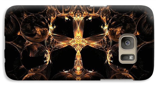 Galaxy Case featuring the digital art Golden Bee by Linda Whiteside