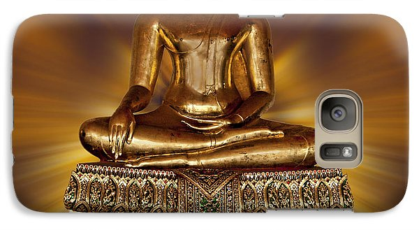 Galaxy Case featuring the photograph Golden Buddha by Shirley Mangini