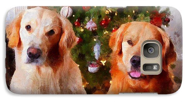 Golden Christmas Galaxy S7 Case