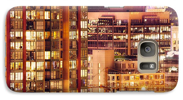 Galaxy Case featuring the photograph City Of Vancouver - Golden City Of Lights Cdlxxxvii by Amyn Nasser
