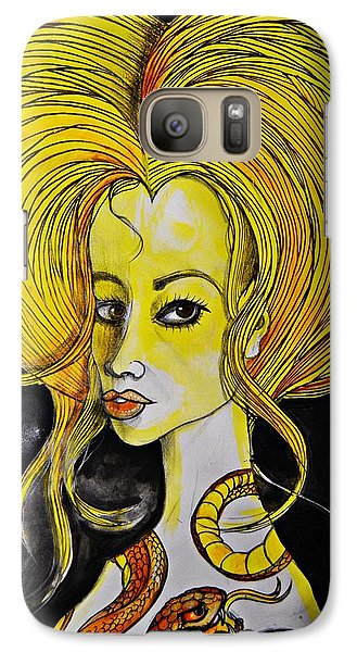Galaxy Case featuring the painting Golden Core by Sandro Ramani