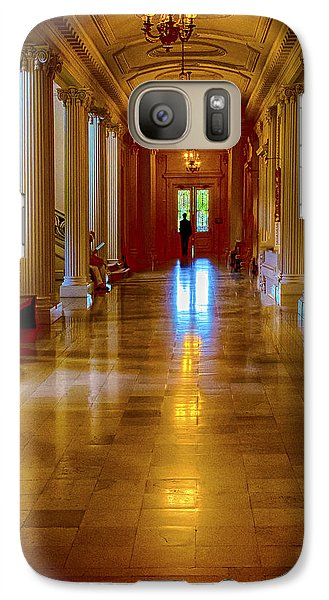 Galaxy Case featuring the photograph Golden Corridor by Joseph Hollingsworth
