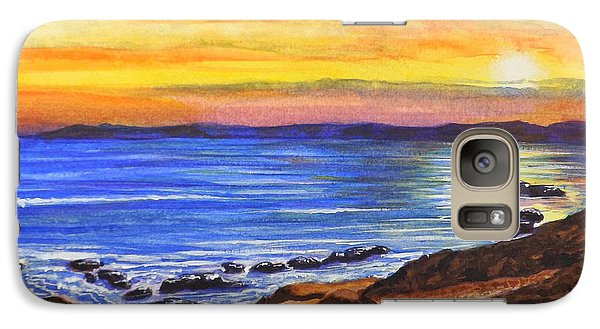 Galaxy Case featuring the painting Golden Cove by Darren Robinson