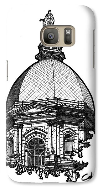 Galaxy Case featuring the drawing Golden Dome by Calvin Durham