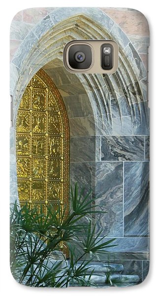 Galaxy Case featuring the photograph Golden Door by Dodie Ulery