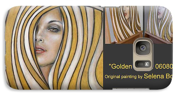 Galaxy Case featuring the painting Golden Dream 060809 Comp by Selena Boron