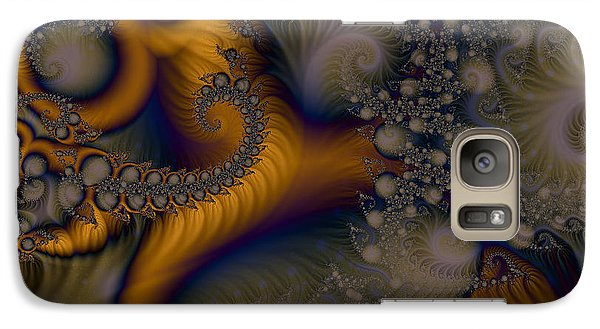 Galaxy Case featuring the digital art Golden Dream Of Fossils by Elizabeth McTaggart