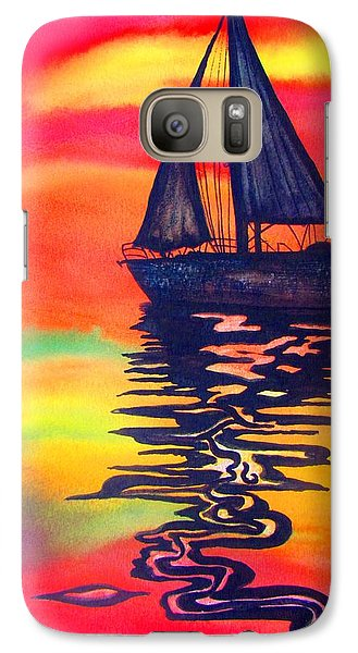 Galaxy Case featuring the painting Golden Dreams by Lil Taylor