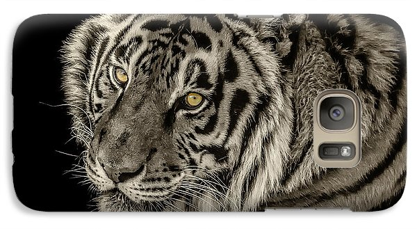 Galaxy Case featuring the photograph Golden Eyes Of The Tiger by Julie Clements