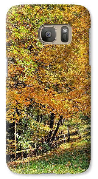 Galaxy Case featuring the photograph Golden Fenceline by Gordon Elwell