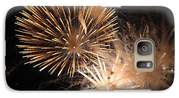 Galaxy Case featuring the photograph Golden Fireworks by Rowana Ray