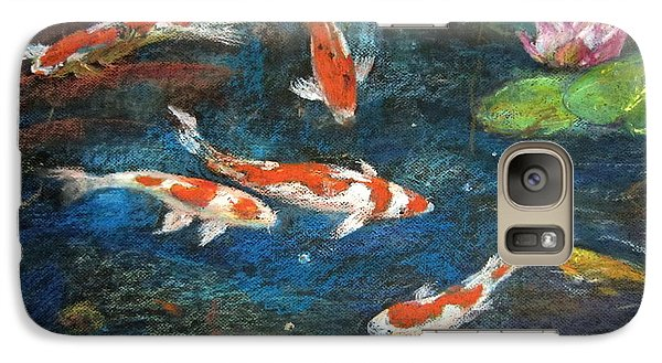 Galaxy Case featuring the painting Golden Fish by Jieming Wang