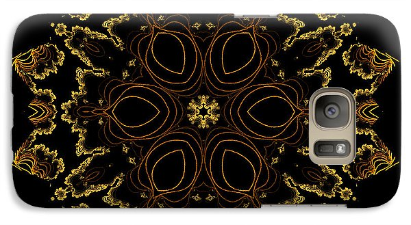 Galaxy Case featuring the digital art Golden Flower Of The Night by Owlspook