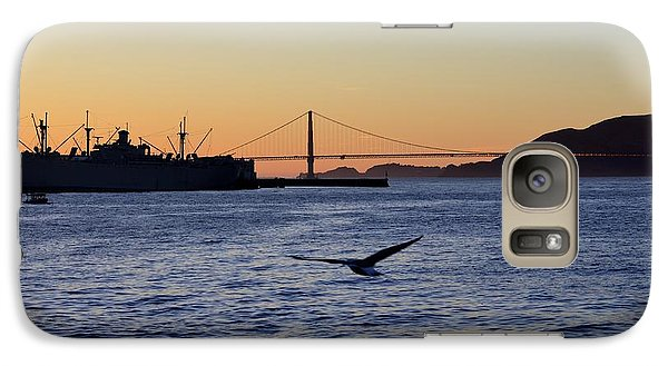 Galaxy Case featuring the photograph Golden Gate Bridge by Alex King