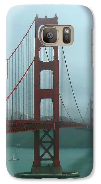 Galaxy Case featuring the photograph Golden Gate Bridge And Partial Arch In Color  by Connie Fox