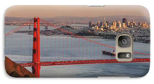 Galaxy Case featuring the photograph Golden Gate Bridge And San Francisco 1 by Lee Kirchhevel