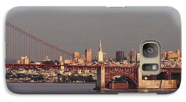 Galaxy Case featuring the photograph Golden Gate Bridge And San Francisco Panoramic by Lee Kirchhevel