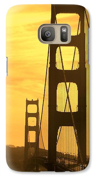 Galaxy Case featuring the photograph Golden Gate Bridge  by Clare Bevan