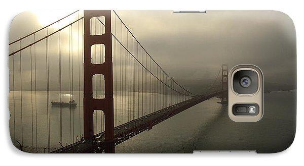 Galaxy Case featuring the photograph Golden Gate Bridge Fog Lifting by Scott Rackers