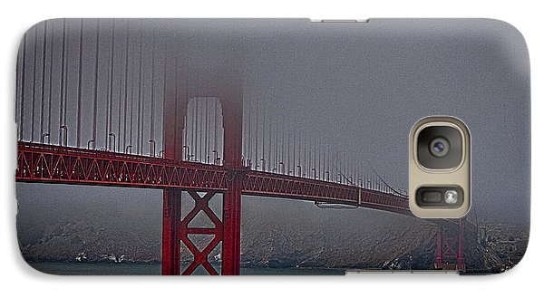 Galaxy Case featuring the photograph Golden Gate Bridge In Fog ... by Chuck Caramella