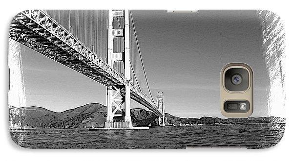 Galaxy Case featuring the photograph Golden Gate Bridge by Kathy Churchman