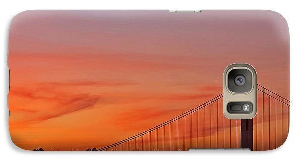 Galaxy Case featuring the photograph Golden Gate Sunset by Kate Brown
