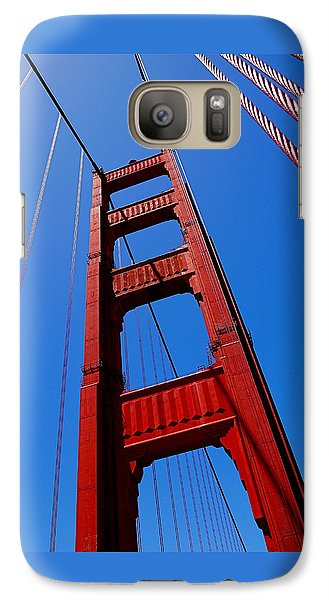 Golden Gate Tower Galaxy Case by Rona Black