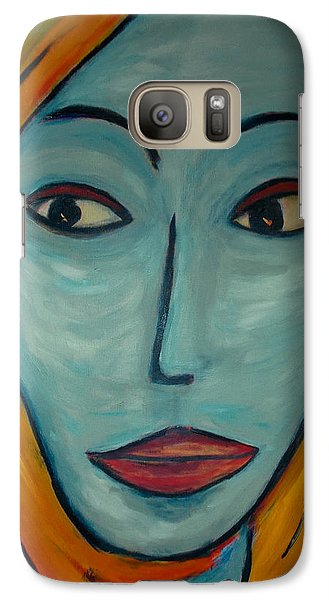 Galaxy Case featuring the painting Golden Girl by Zeke Nord