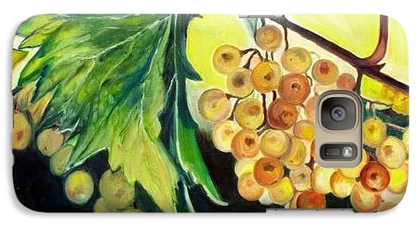 Galaxy Case featuring the painting Golden Grapes by Julie Brugh Riffey
