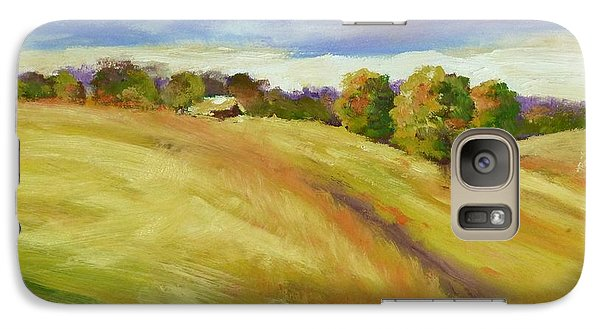 Galaxy Case featuring the painting Golden Hills by Sally Simon