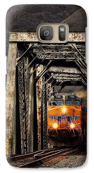 Galaxy Case featuring the photograph Golden Hour Crossing by Ken Smith