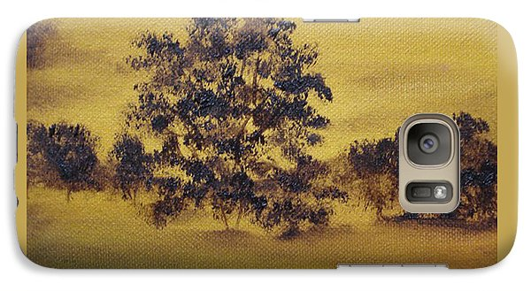 Galaxy Case featuring the painting Golden Landscape by Judith Rhue