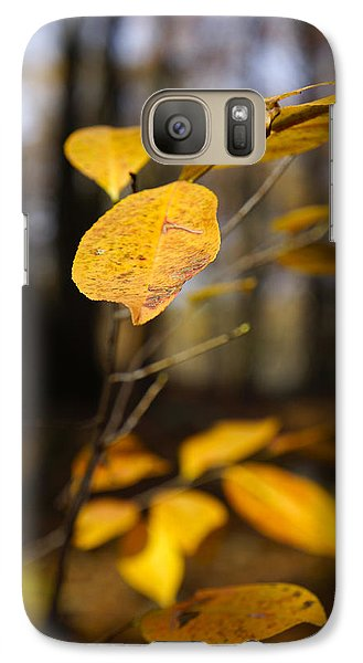 Galaxy Case featuring the photograph Golden Leaf by Rafael Quirindongo