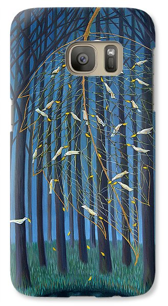 Galaxy Case featuring the painting Golden Leaf by Tone Aanderaa