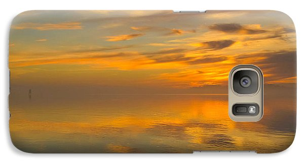Galaxy Case featuring the photograph Golden Marble Sky by Suzy Piatt