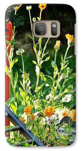 Galaxy Case featuring the photograph Golden Moment by VLee Watson