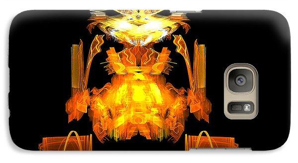 Galaxy Case featuring the digital art Golden Monkey by R Thomas Brass