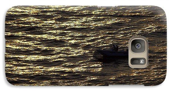 Galaxy Case featuring the photograph Golden Ocean by Miroslava Jurcik
