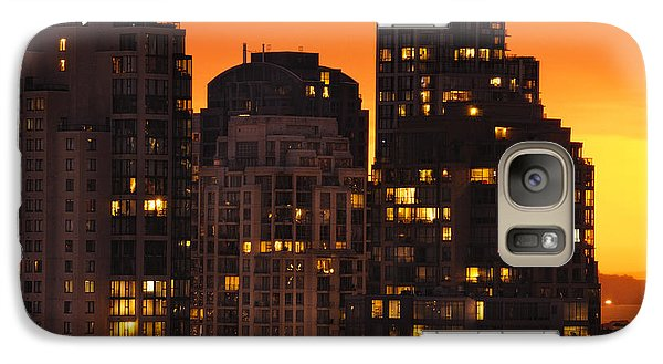 Galaxy Case featuring the photograph Golden Orange Cityscape Dccc by Amyn Nasser