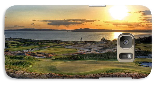 Galaxy Case featuring the photograph Golden Orb - Chambers Bay Golf Course by Chris Anderson