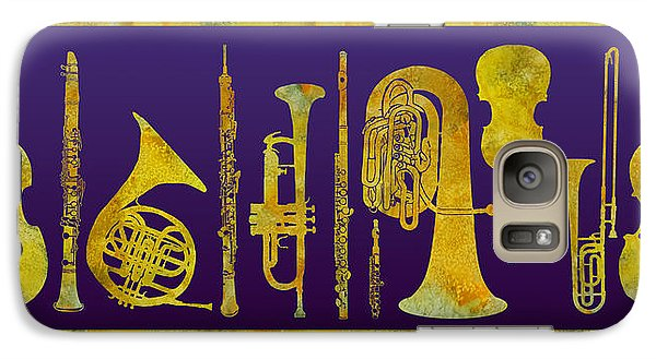 Trombone Galaxy S7 Case - Golden Orchestra by Jenny Armitage